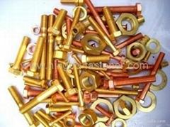 Copper bolts, Copper screws, Copper washers, Copper fasteners etc