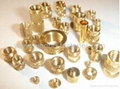 Brass inserts Brass knurled inserts Brass plugs Water connectors Auto parts