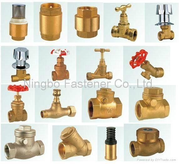 Brass valves, Compression fittings, Brass fasteners, Brass dog bolts, Water hose 1