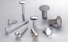 Carriage Bolts Guardrail Bolts Railway Fasteners