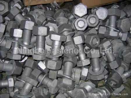 Structural bolts/nuts/washers AS1252, DIN6914, ASTM A325, ASTM A490 etc fastener 2