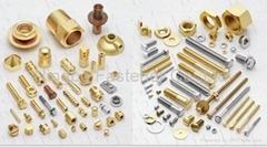 Brass fasteners, Brass bolts, Brass screws, Brass anchors, Brass washers etc