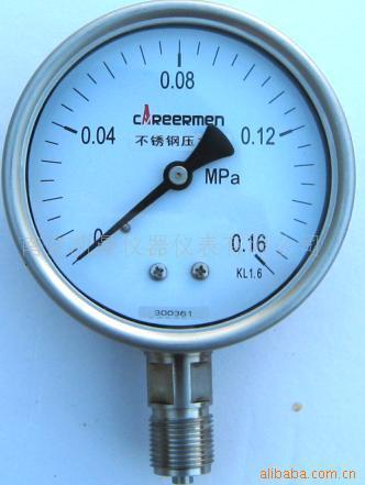 不鏽鋼壓力表 1