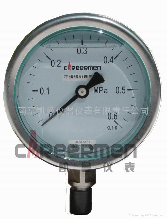 不鏽鋼耐震壓力表 1