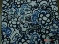 poly spun spandex print jersey fabric