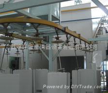 外殼噴粉固化生產線