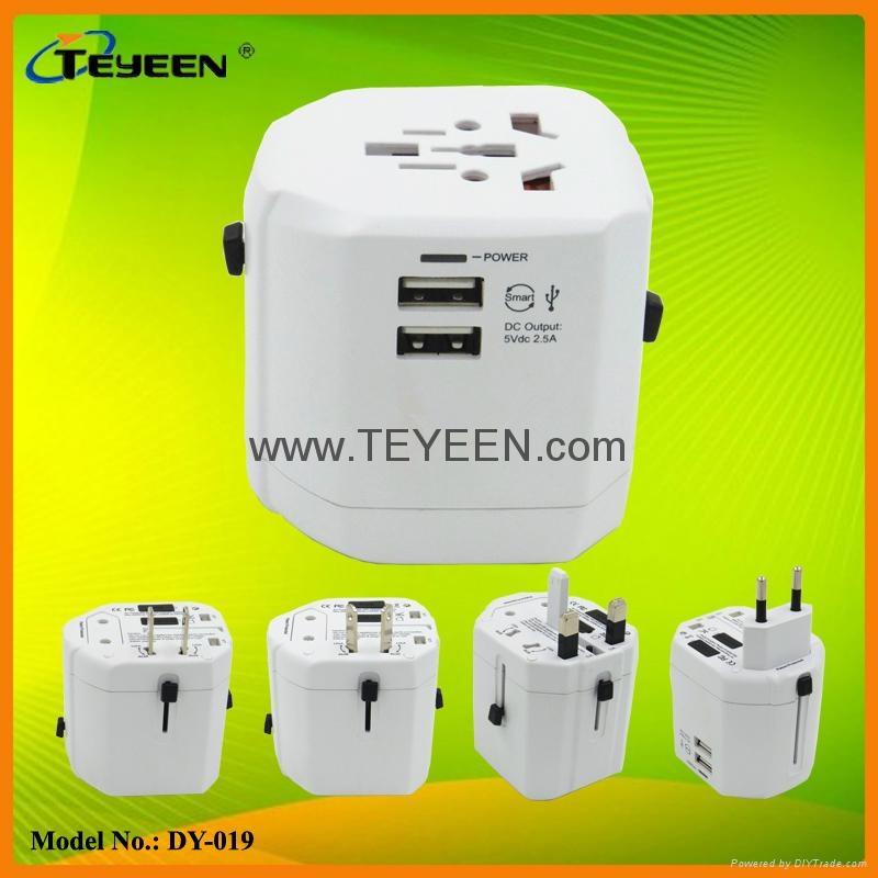 经典款双USB多功能插头  DY-019 15