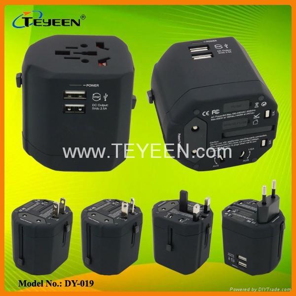 经典款双USB多功能插头  DY-019 14