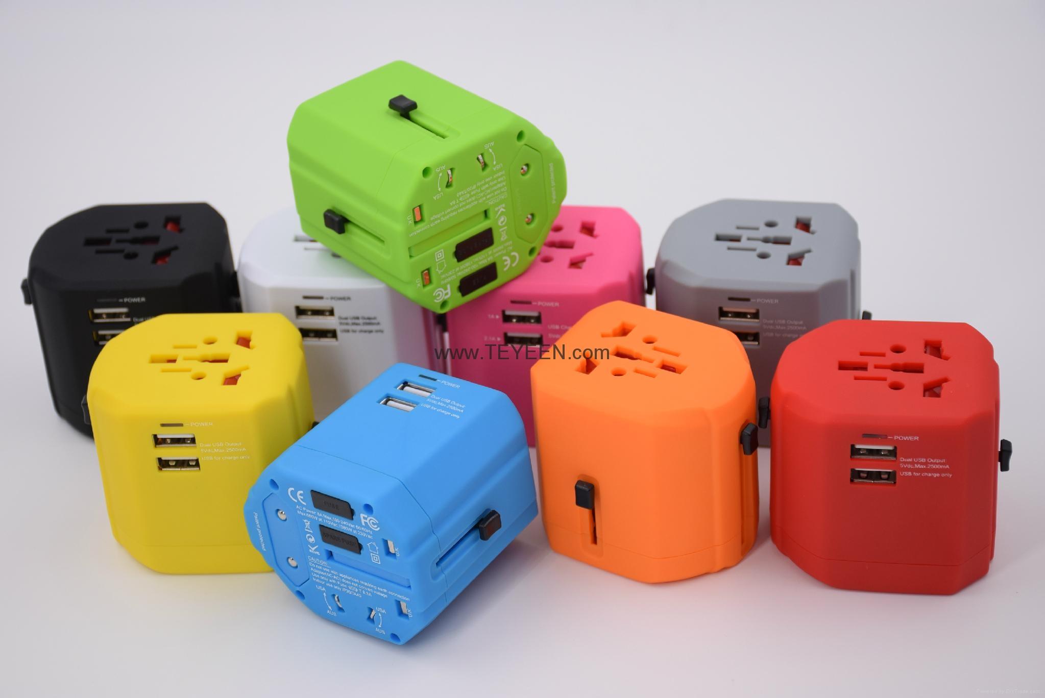经典款双USB多功能插头  DY-019 18