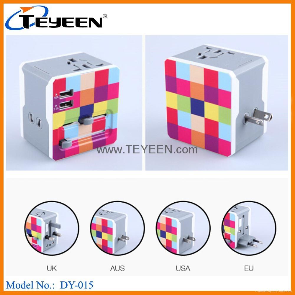 多國通用USB充電禮品插頭 DY-015 2