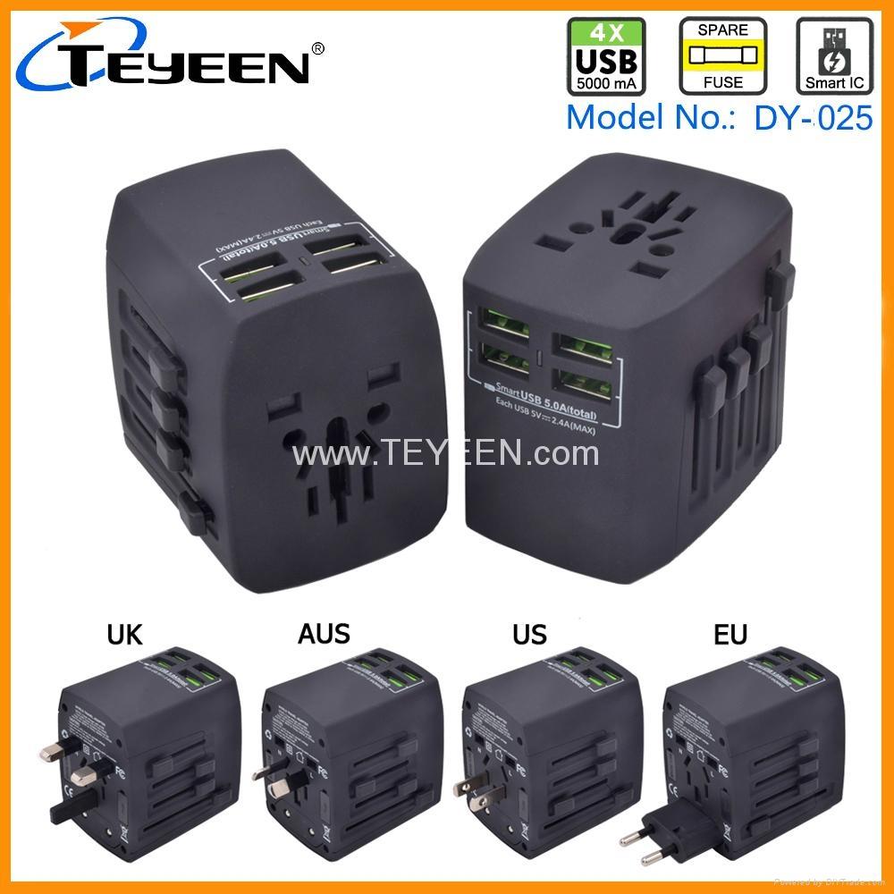 4 USB 全球旅行转换插座 DY-025 1