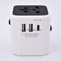 Universal travel adapter with Type C charger