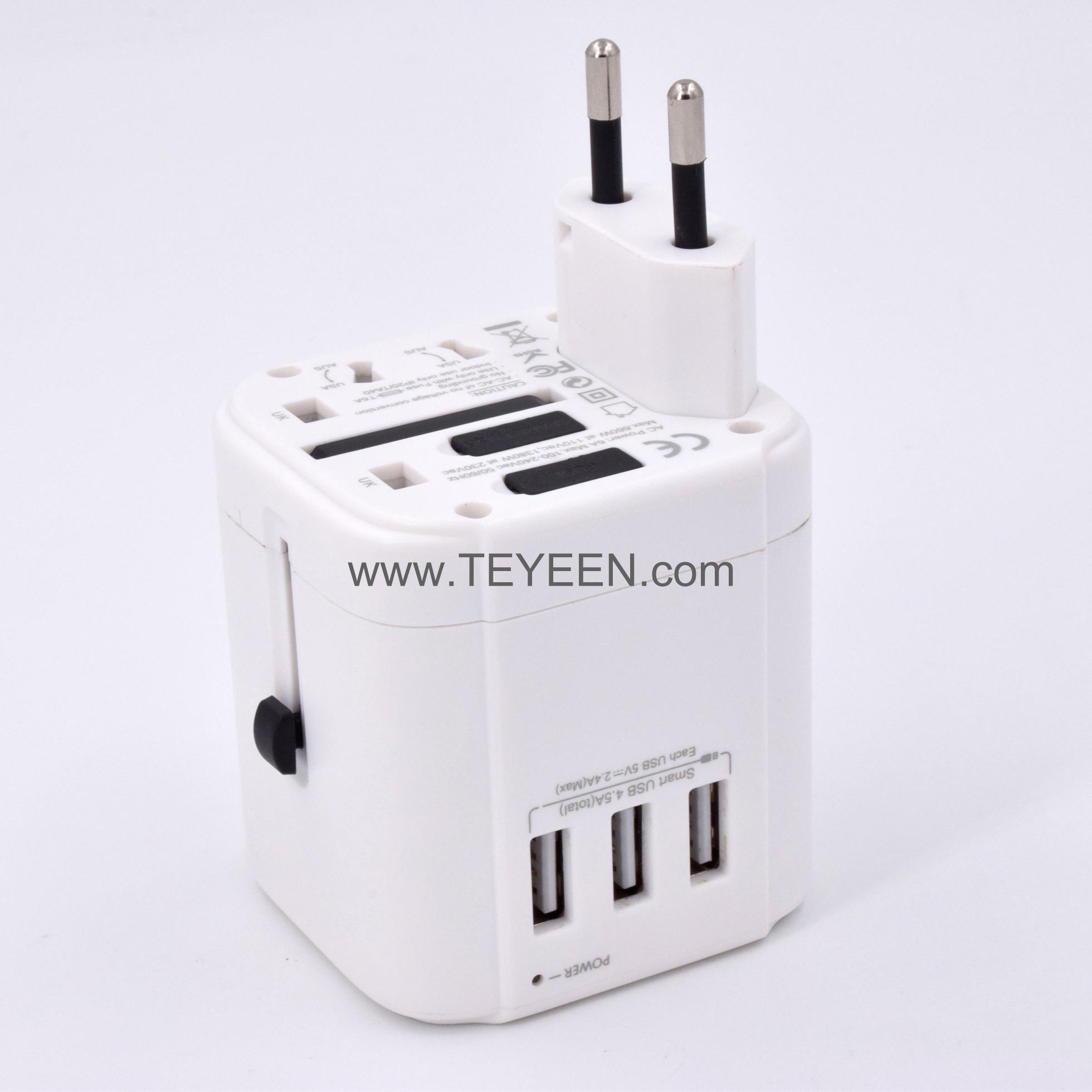 3 USB 旅行轉換插頭 5