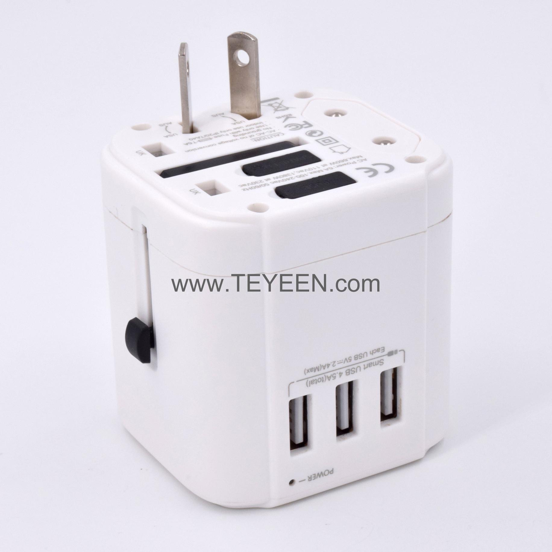 3 USB 旅行轉換插頭 6