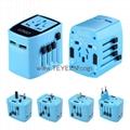 雙USB 全球通轉換插座 LED 背光logo 3