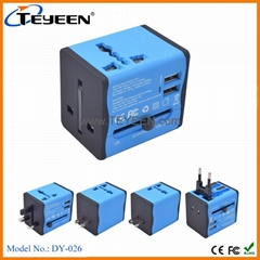 Unviersal Travel adapter with USB charger