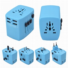 World Travel Adapter with 4 USB Charger ( DY-025 ) (Hot Product - 1*)