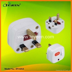 UK Plug with Lamp Switch   (DY-6313)