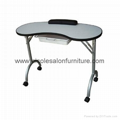 Portable folding manicure table with bag/nail desk,manicure station