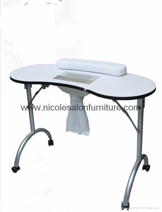 Portable folding manicure table with bag nail desk for Folding nail table