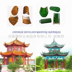 Chinese gazebo roof tiles glazed
