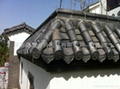 Chinese temple roofing material clay