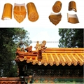 Yellow Chinese antique roof tiles glazed