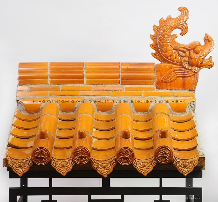 Chinese ceramic roof tiles for arch gate  4