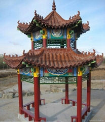Asian Glazed Roof Tiles for Chinese garden pagoda