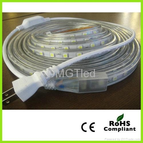 high voltage led flexible strip light smd 5050 60leds 230v ip65 dm pvc100c50 60 dmgt china. Black Bedroom Furniture Sets. Home Design Ideas