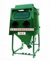 Ss 3 Manual Turntable Type Wet Sandblasting Machine Ss