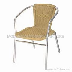 Outdoor rattan furniture-Aluminum rattan chair