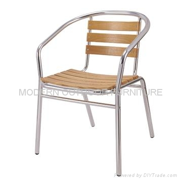 Garden Furniture Aluminum Wooden Chair 1
