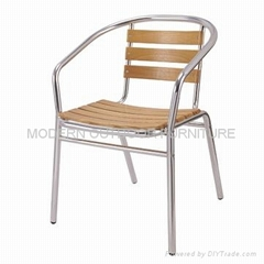 Garden furniture-aluminum wooden chair