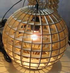 木制球形灯