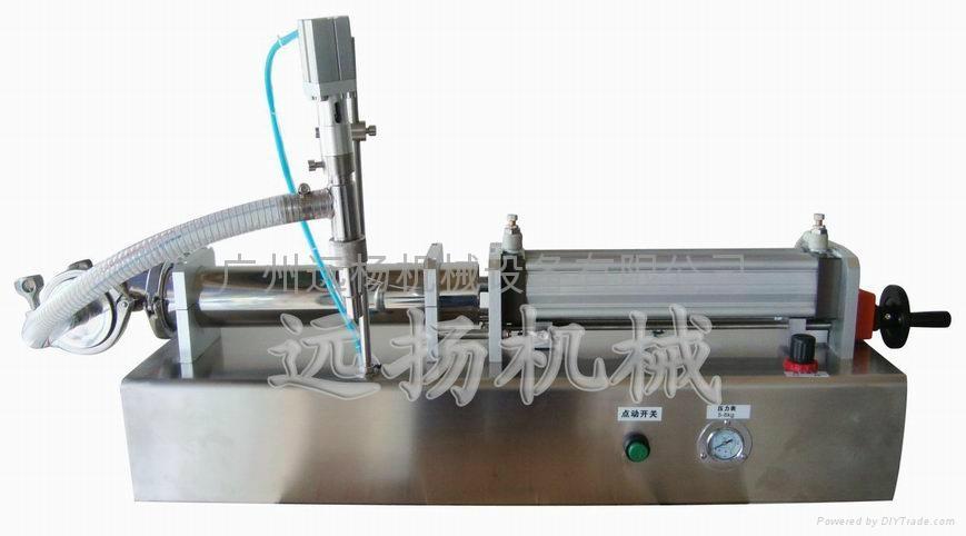 半自動單頭臥式氣動灌裝機 1
