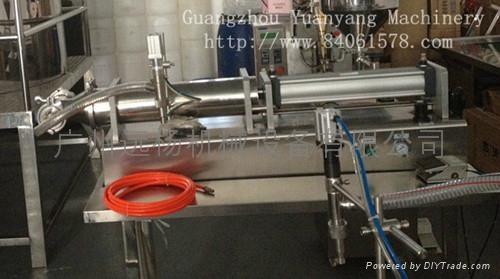 半自动单头卧式气动灌装机 2