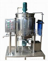 Liquid detergent production machine group