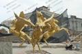 土豪金马雕塑