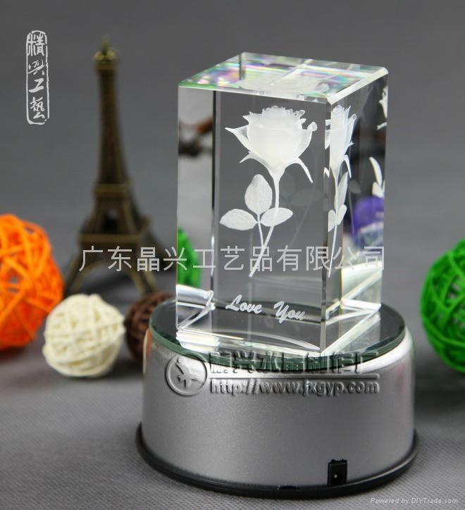 生日礼物水晶内雕礼品 1