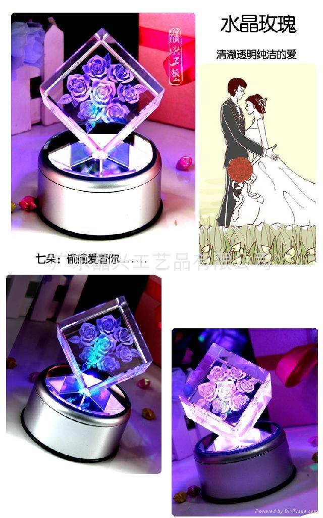 生日礼物水晶内雕礼品 2