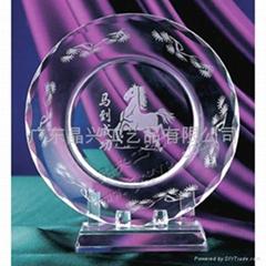 水晶盘|水晶纪念盘|水晶纪念品|学校纪念品|企业留念