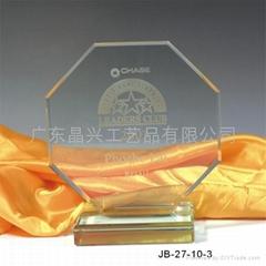 佛山,中山企業獎杯水晶獎杯 創新水晶獎牌