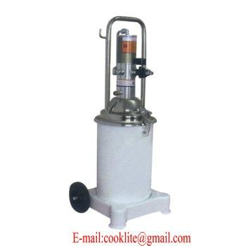 20 Liter Air Operated Grease Bucket Pump 20L Wheeled High Pressure Pneumatic  2