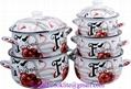 5 PCS Enamel Stock Pot / Casserole Pot
