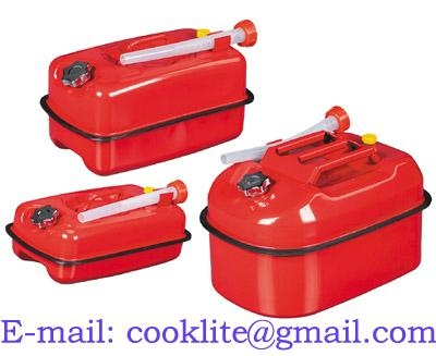 Red Portable Jerry Can for Boat/4WD/Car/Camping Petrol/Fuel Built-in Spout