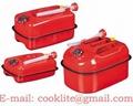 Jerrican en métal pour huiles et essence / Jerrican métallique pour carburant