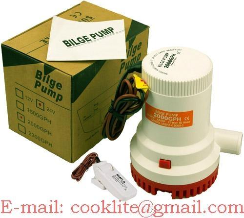 Bilgentauchpumpe Wasserpumpe Bootspumpe Abwasserpumpe Bilgenpumpe - 12V/24V 2000GPH