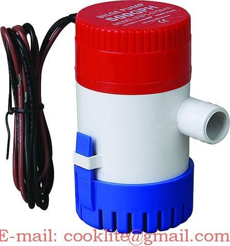 Bomba fundo submersível / Bomba submersa para Agua 12V/24V 500GPH