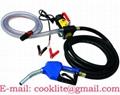 12V/24V Diesel Fuel Transfer Pump Kit / Mini Diesel Fuel Dispenser - 175W 45L/Mi